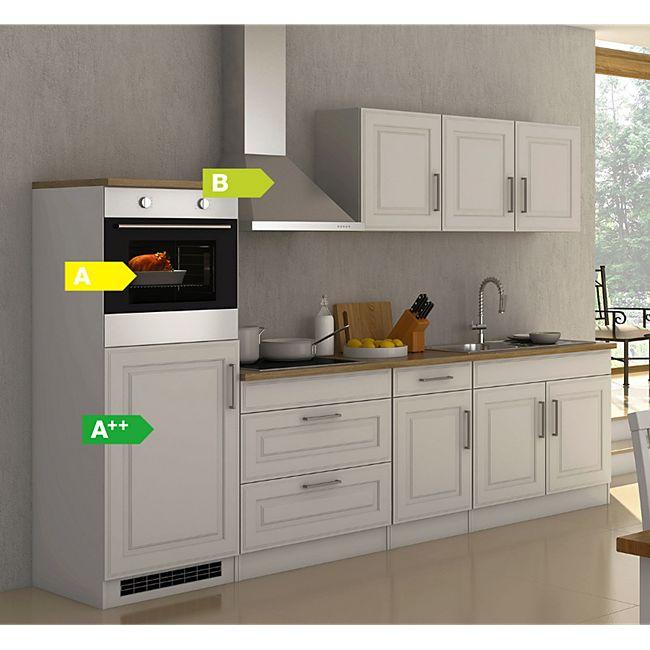 Held Möbel Küchenzeile Chicago 290 cm Hochglanz Weiß - Bild 1