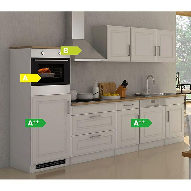 Held Möbel Küchenzeile Chicago 300GS Hochglanz Weiß - Bild 1