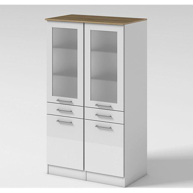 Held Möbel Vitrine Seattle 100 cm Hochglanz Weiß - Bild 1