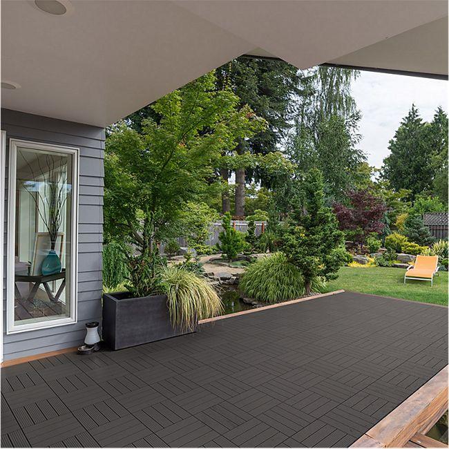 Berühmt Home Deluxe WPC Terrassenfliesen, 11 Stck., 30x30 cm, 1m² UR53
