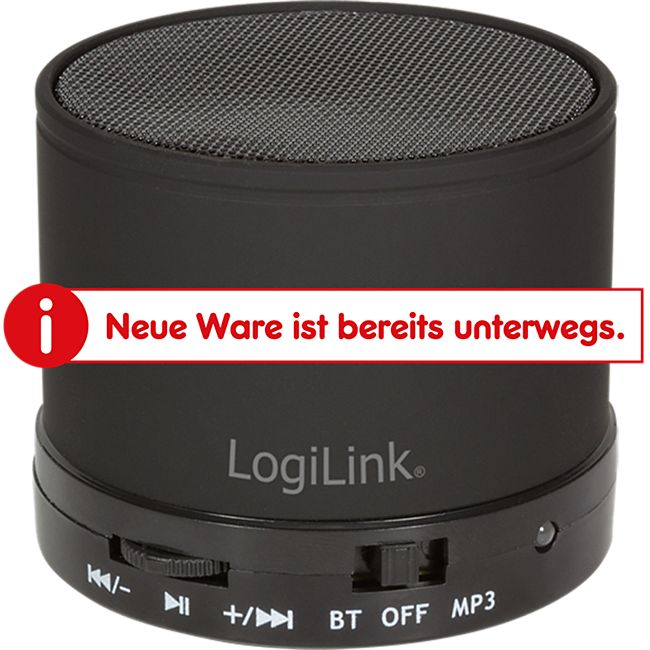 LogiLink SP0051 Bluetooth Lautsprecher mit MP3-Player - schwarz - Bild 1