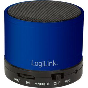 LogiLink SP0051B Bluetooth Lautsprecher mit MP3-Player - blau - Bild 1