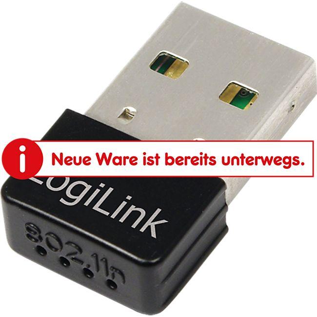 LogiLink WL0084E Wireless N150 MBit/s, USB Adapter, Ultra Nano Size - Bild 1