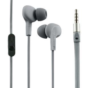 LogiLink HS0041 Wassergeschütztes (IPX6) Stereo In-Ear Headset - grau - Bild 1