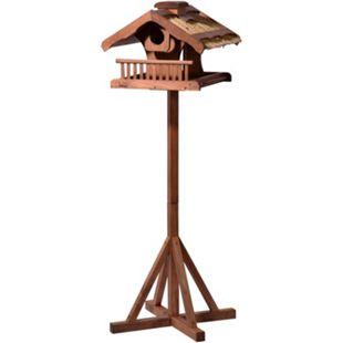 Dobar Luxus-Vogelhaus Großes Vogelfutterhaus mit Apfelpicker und Ständer, XXL - Bild 1