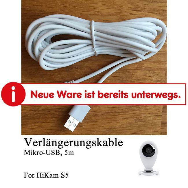 HiKam+ Verlängerungskabel für HiKam S5 Überwachungskamera - Bild 1