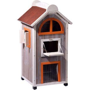 Dobar Großes Katzenhaus Fancy Cat aus Holz - Bild 1