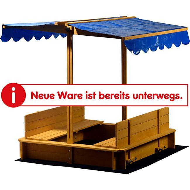 Dobar 94357FSC Sandkasten mit Sitzbänken, Bodenplane und Dach - Bild 1