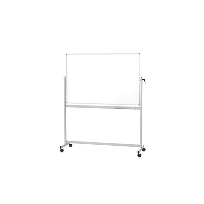 MAUL mobiles Whiteboard MAULstandard, drehbar, Emaille - 90 x 120 cm - Bild 1