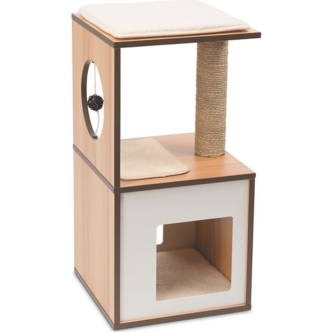 Vesper Katzenmöbel V-box small walnuss - Bild 1
