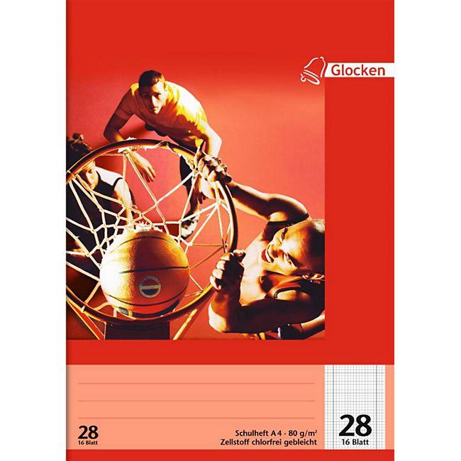 Schulhefte A 4, 10er Set - kariert Motiv Basketball - Bild 1