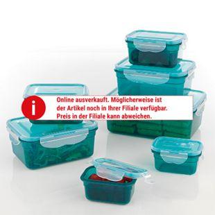 GOURMETmaxx Frischhaltedosen Klick-it, smaragdgrün 14tlg. - Bild 1