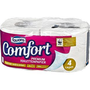 Favora Toilettenpapier 2x160 4 lagig - Bild 1