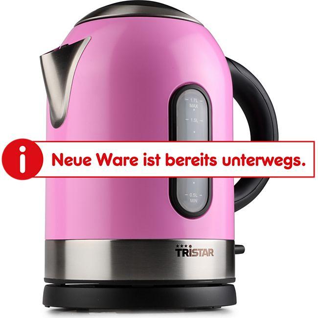 Tristar Wasserkocher 1,7 l, pink, Edelstahl - Bild 1