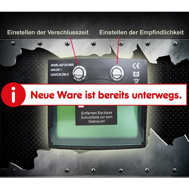 "Mauk Automatik Schweißhelm Serie ""Exclusive"" Motiv ""Rot Silber"" - Bild 1"