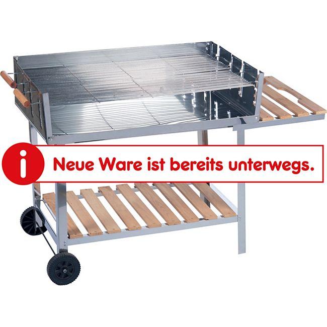 BBQ Grillwagen Edelstahl - Bild 1