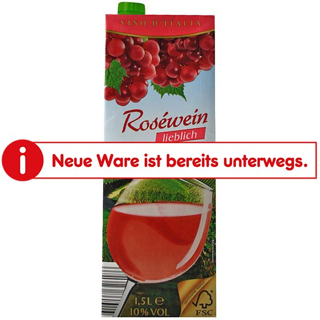 Italienischer Tafelwein rosé 10,0 % vol 1,5 Liter - Bild 1