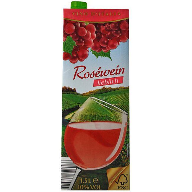 Italienischer Roséwein lieblich 10,0 % vol 1,5 Liter - Bild 1