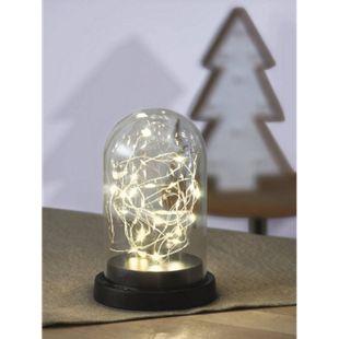 Glaskuppel mit Lichterkette - Bild 1