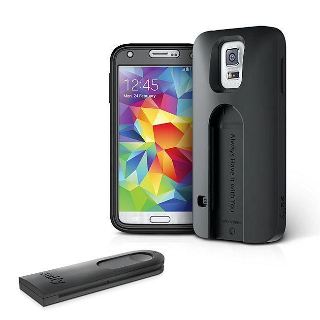 iLuv Selfy Samsung Galaxy S5 Case mit Bluetooth Fernbedienung für Fotos und Videos - schwarz - Bild 1