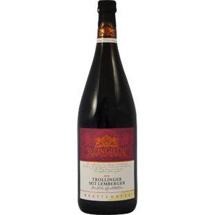 Winzergilde Besigheim Trollinger mit Lemberger Qualitätswein Württemberg  11,5 % vol 1 Liter - Bild 1