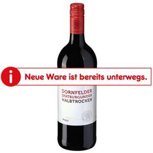 Dornfelder Spätburgunder Rotwein Qualitätswein Pfalz halbtrocken 12,5 % vol 1 Liter - Bild 1