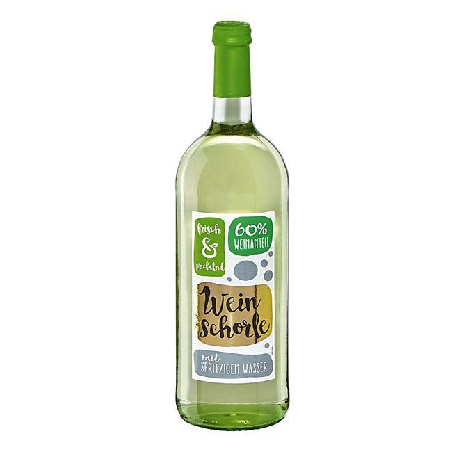 Weinschorle weiß 6,0 % vol 1,0 Liter - Bild 1