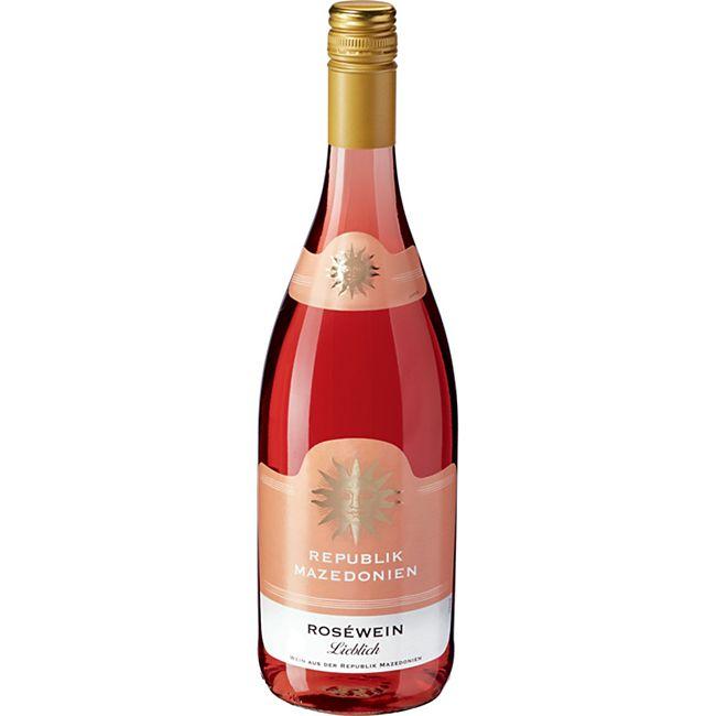 Roséwein aus der Republik Nordmazedonien 10,0 % vol 1 Liter - Bild 1