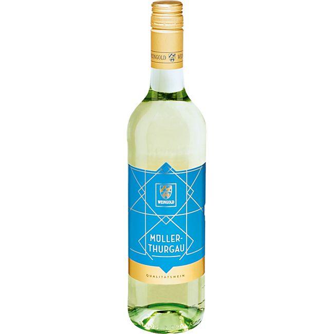Weingold Müller Thurgau Qualitätswein Mosel 10,0 % vol 0,75 Liter - Bild 1