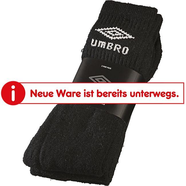 Umbro Sport Socken 3er, schwarz 43 - 46 - Bild 1