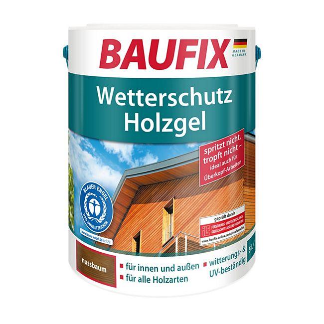 BAUFIX Wetterschutz-Holzgel nussbaum 5 L - Bild 1