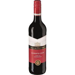Dornfelder Rotwein QbA lieblich 10,5 % vol 0,75 Liter - Bild 1