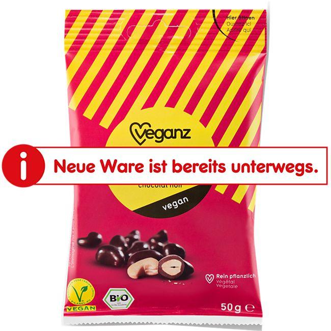 Bio Veganz Cashewkerne in Zartbitterschokolade 50 g - Bild 1