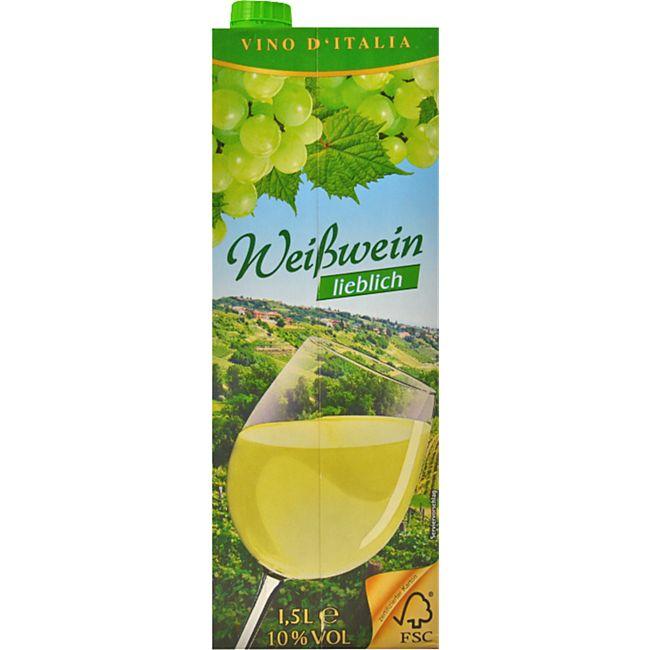 Italienischer Weißwein lieblich 9,5 % vol 1,5 Liter - Bild 1