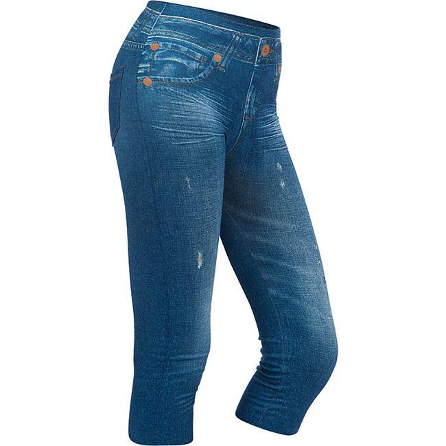 SLIMmaxx 3/4 Jeans-Leggings blau Gr. 42/44 (L) - Bild 1