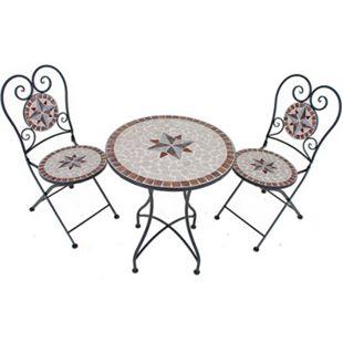 Balkonset 3tlg. Mosaik AMARILLO braun/beige/grau/rot - Bild 1