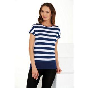 Damenshirts Überschnittener Ärmel blau /weiß gestreift, M - Bild 1