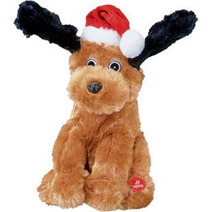 Singendes Weihnachtsplüschtier - Hund (Dunkelbraun) - Bild 1