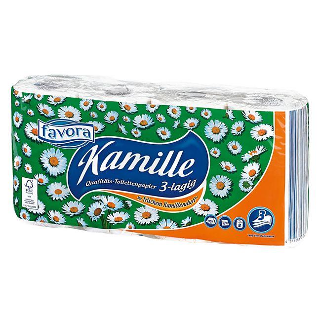 Favora Toilettenpapier Kamille 3lg. 8x150 Blatt - Bild 1