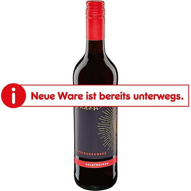 Spätburgunder Rotwein Qualitätswein Baden halbtrocken  12,0 % vol 0,75 Liter - Bild 1