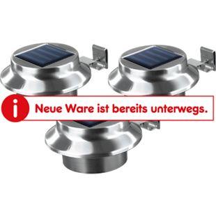 EASYmaxx Solar Dachrinnenleuchten Edelstahl 3er-Set - Bild 1