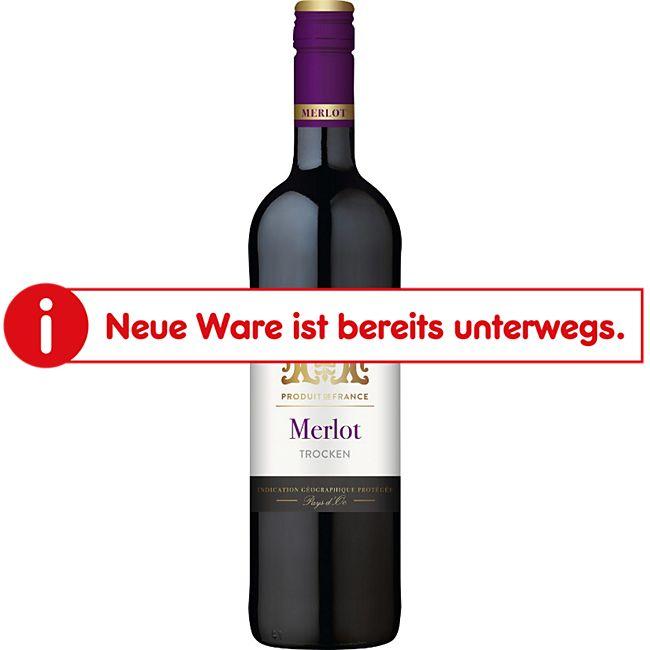 Merlot trocken IGP 12,5 % vol 0,75 Liter - Bild 1