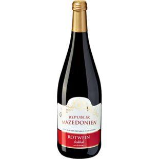 Rotwein aus der Republik Nordmazedonien 10,0 % vol 1 Liter - Bild 1