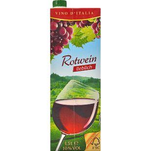Italienischer Rotwein lieblich 9,5 % vol 1,5 Liter - Bild 1