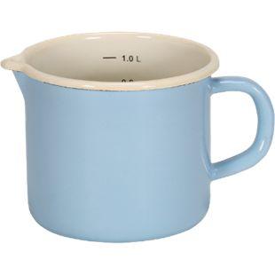 Emaille-Milchtopf mit Ausguss Serie SYLT, 12 cm - Bild 1