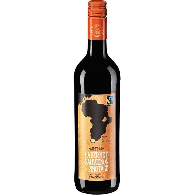 Cabernet Sauvignon Pinotage Fair Trade 12,5 % vol 0,75 Liter - Bild 1