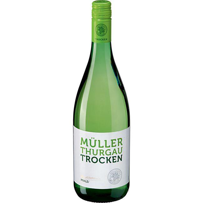 Müller Thurgau Qualitätswein Pfalz trocken 11,0 % vol 1 Liter - Bild 1