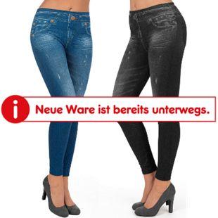 SLIMmaxx Jeans-Leggings 2er-Set schwarz/blau versch. Größen - Bild 1