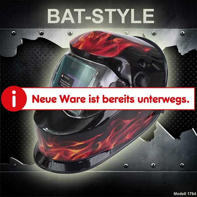 "Mauk Automatik Schweißhelm Serie ""Bat-Style"" Modell ""Flamme"" - Bild 1"