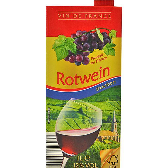 Vin de France Landwein Rot 12,0 % vol 1 Liter - Bild 1